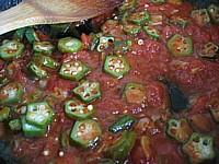 オクラのトマトパスタ3