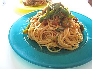 オクラのトマトパスタ6