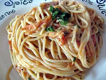 トマトとチーズのパスタ7