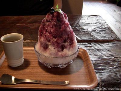 CAFE KICHI◇ブルーベリー氷