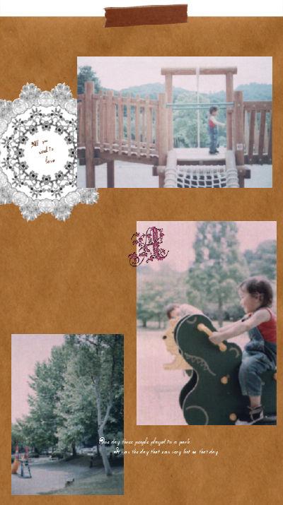 06 公園 コラージュ マスキングテープ加工