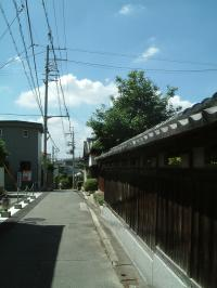 真夏の路地