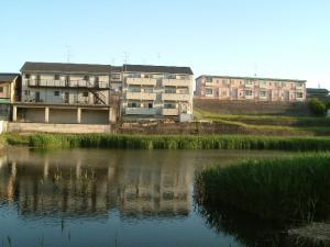 夕陽の池1