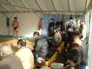 相撲のぼりばた