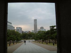 大阪城公園より