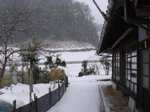 雪景色の田舎
