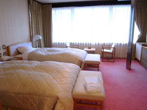 貴賓室のベッドルーム