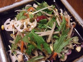 マメと根菜のサラダ