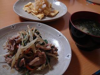 中華風野菜炒め・油揚げのさっぱりおろし