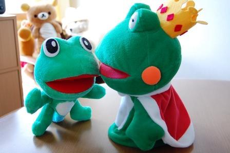 カエルの王様とコガエル