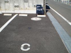 サロン駐車場
