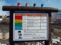 阿蘇山 火口ガス警報