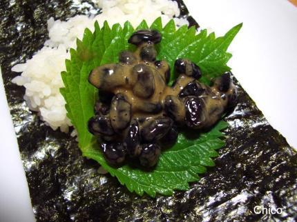 黒豆納豆の手巻き寿司