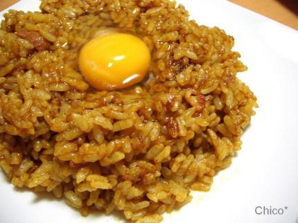 焼きカレー風炒飯