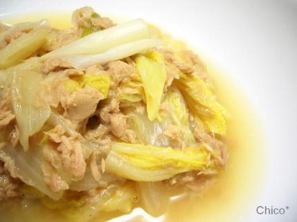 白菜と白葱のくたくた煮