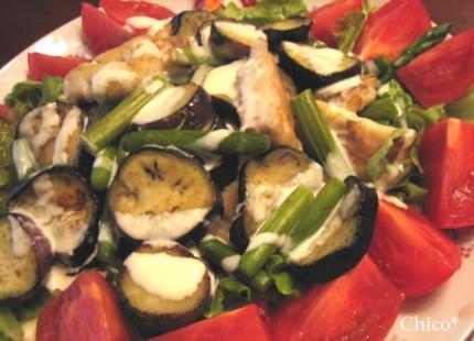鯛のソテー、サラダ仕立て