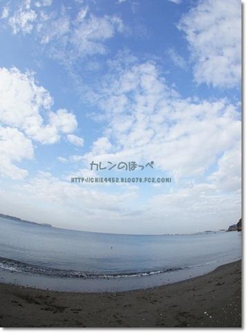魚眼レンズ 空と海