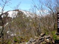 上賽の河原から山頂を…さっきとあまり変わらないね