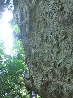 ムーヴ12(5.11d)を登る1川さん