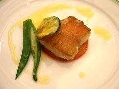 白身魚のオーブン焼き 夏野菜と共に