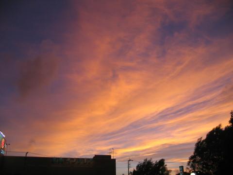 夕焼け…綺麗でしゅねぇ~。