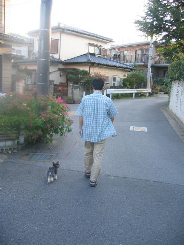 パパとお散歩でしゅ♪