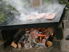 大きいステーキでしゅね。