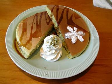 抹茶のホットーケーキ~。