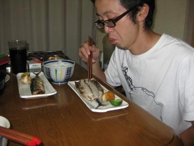 夕飯のさんま