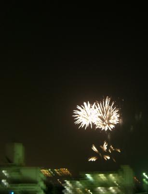那覇祭りの打ち上げ花火