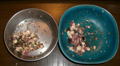 食べ残しのマグロづくしご飯