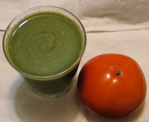 野菜と果物のミックスジュース
