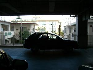 駐車中の我が車