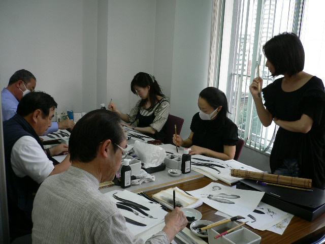 水墨画教室②