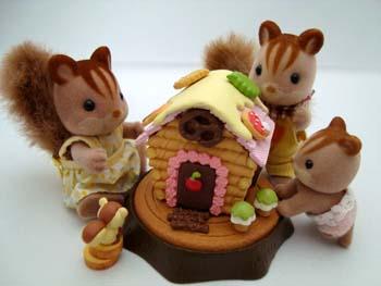 お菓子の家&シルバニア