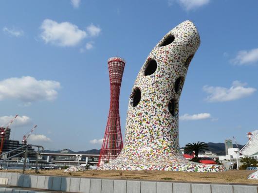 神戸ポートタワーと????