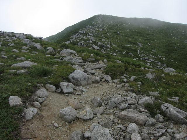 山頂に向かって