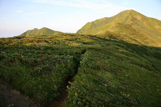 大日岳へと続く道