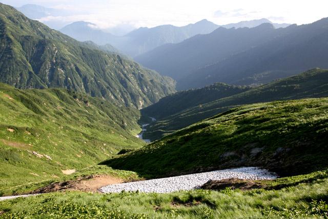 赤岳沢方向