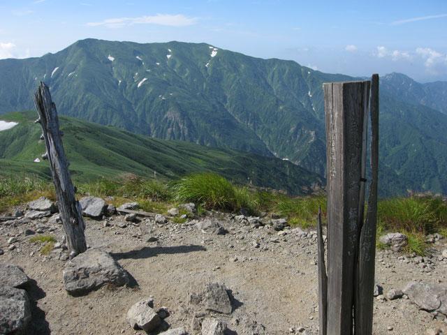 烏帽子岳の頂上
