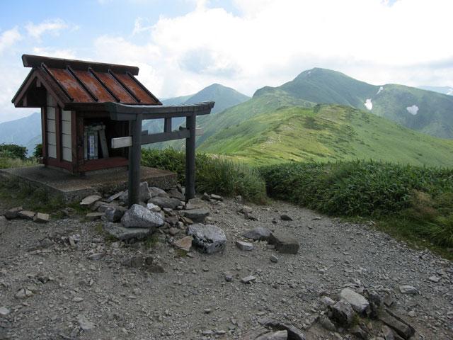 門内岳の山頂