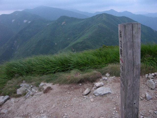 鉾立峰から