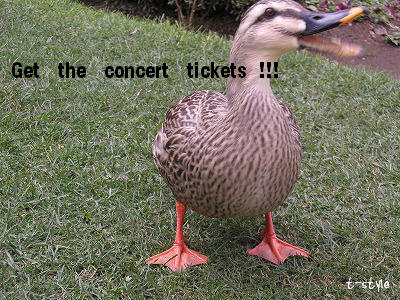 Get the concert ticket !!!