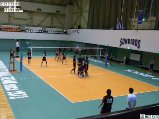 練習試合中。