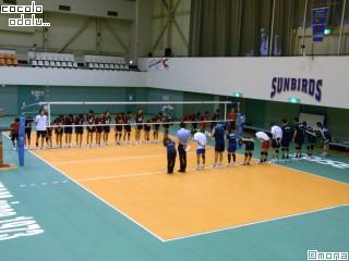 練習試合後。