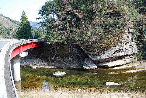 大千瀬川の露岩