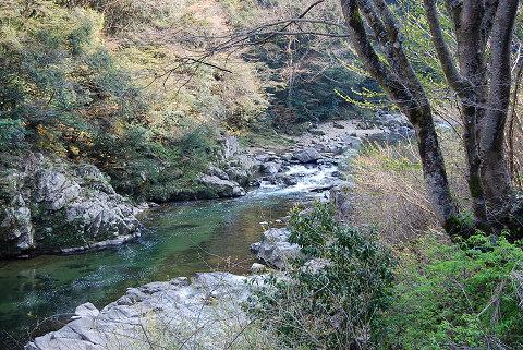 振草渓谷の風景