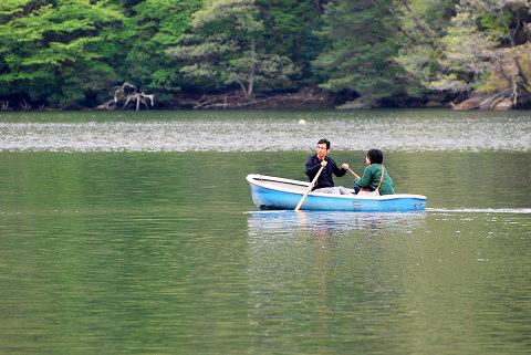 三河湖のボート