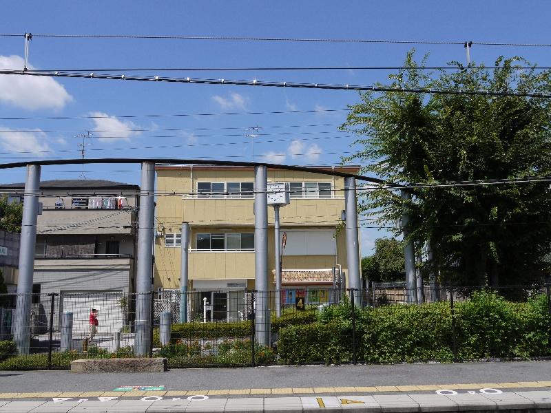 木幡駅ホームから見た京アニ本社