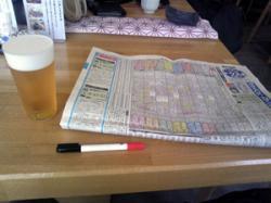 予想しながらビールもキューッ。